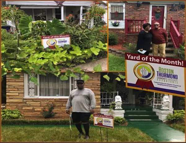 Yard of the Month project instills pride in Boston-Thurmond neighborhood